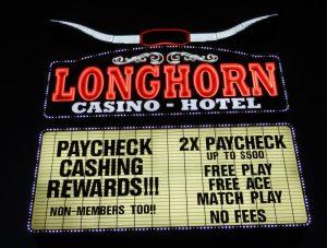 Neon Sign, Longhorn Casino-Hotel