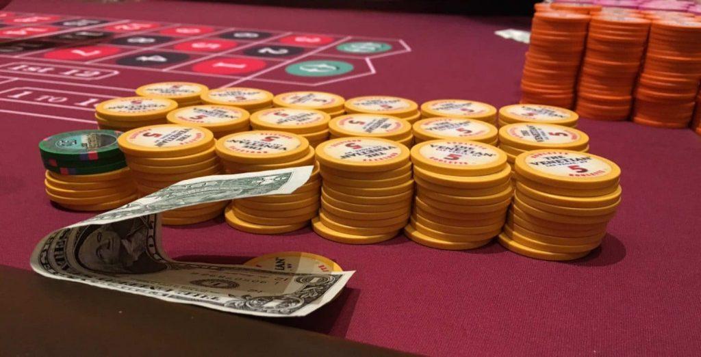 Rouletette in het Venetian Casino