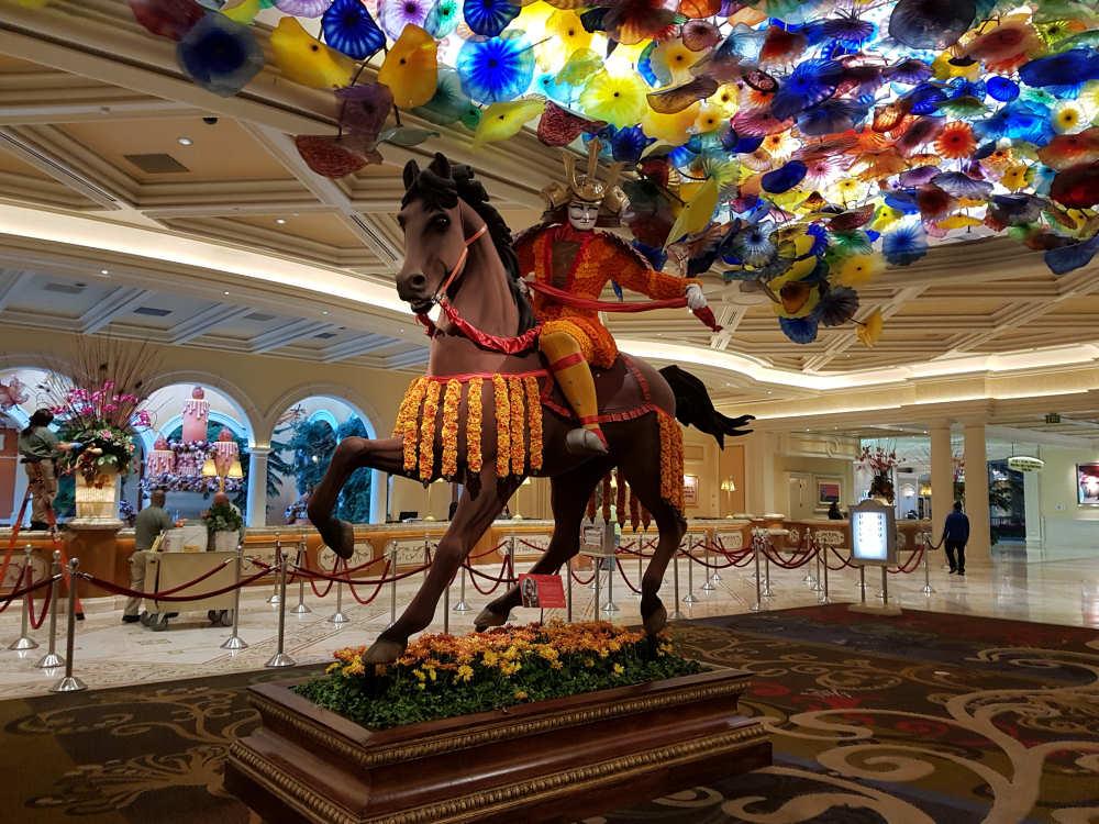 Prachtige lobby in het Bellagio Hotel