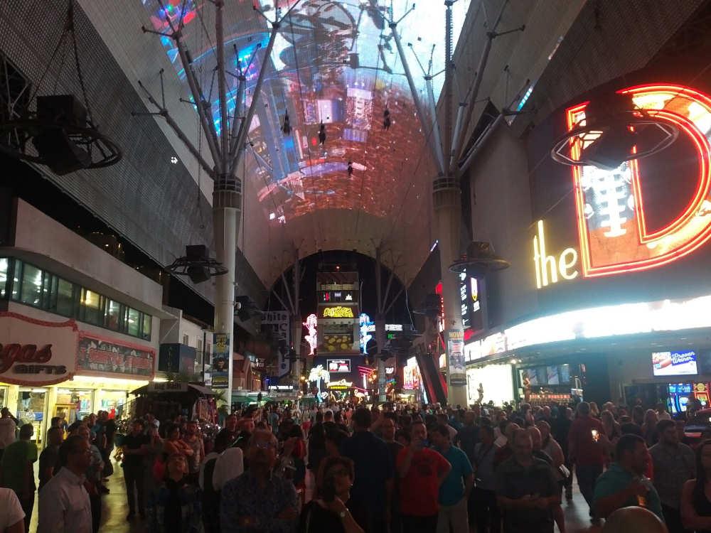 Gezellig druk in Downtown Las Vegas