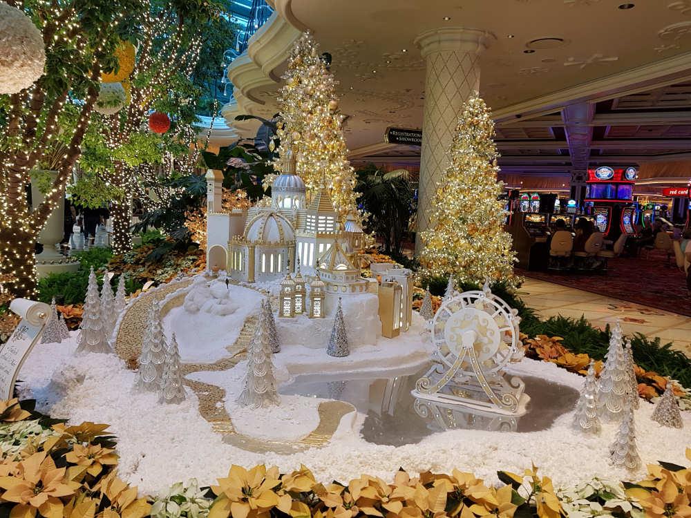 Kerstsfeer in het Wynn Hotel en Casino
