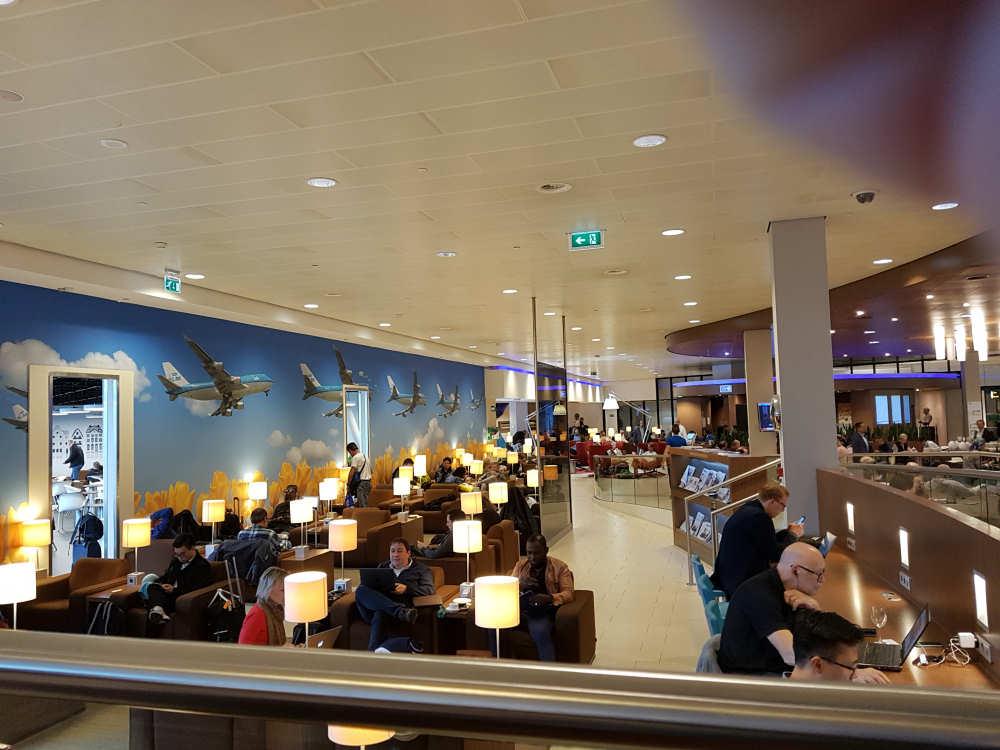 KLM Lounge op Schiphol