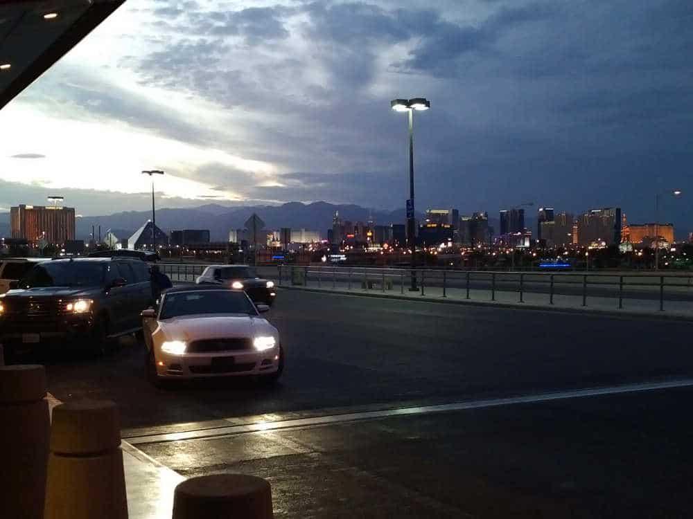 Uitzicht vanaf het vliegveld McCarran