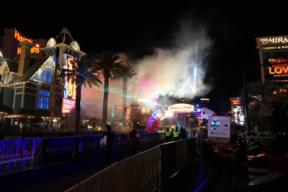 Finish bij het Mirage Hotel in Las Vegas