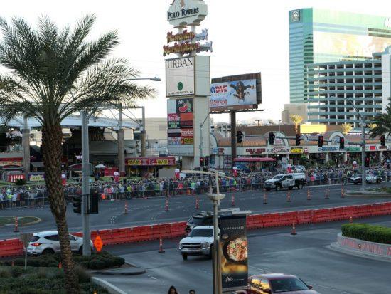 Uitzicht op de startplaatsen marathon Las Vegas