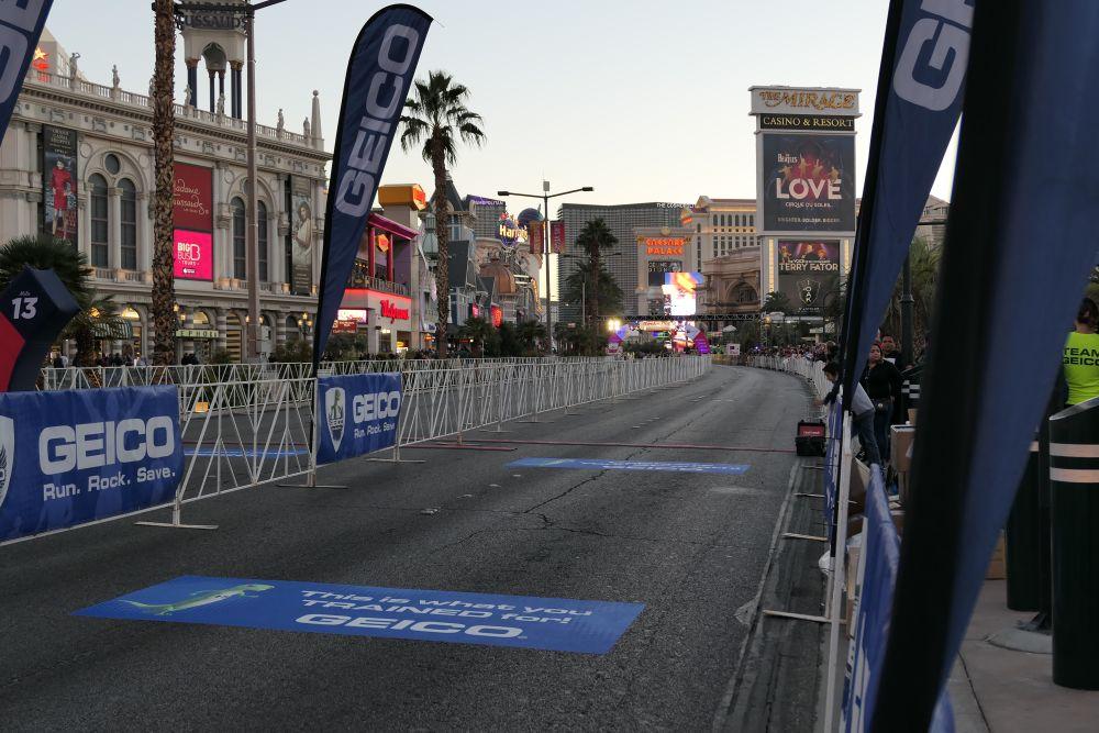 Finishlijn Marathon Las Vegas