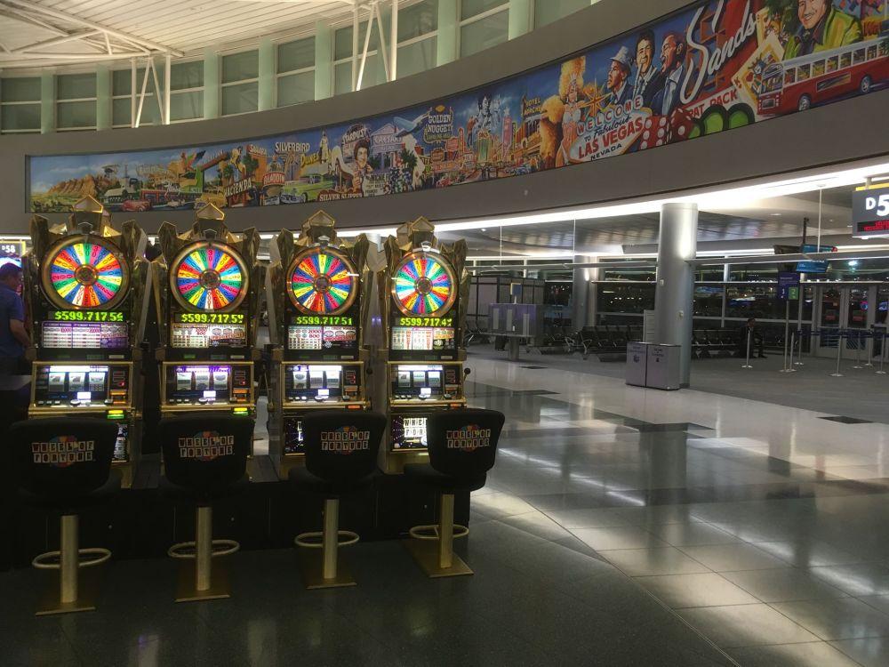 Aankomst op vliegveld McCarran Las Vegas