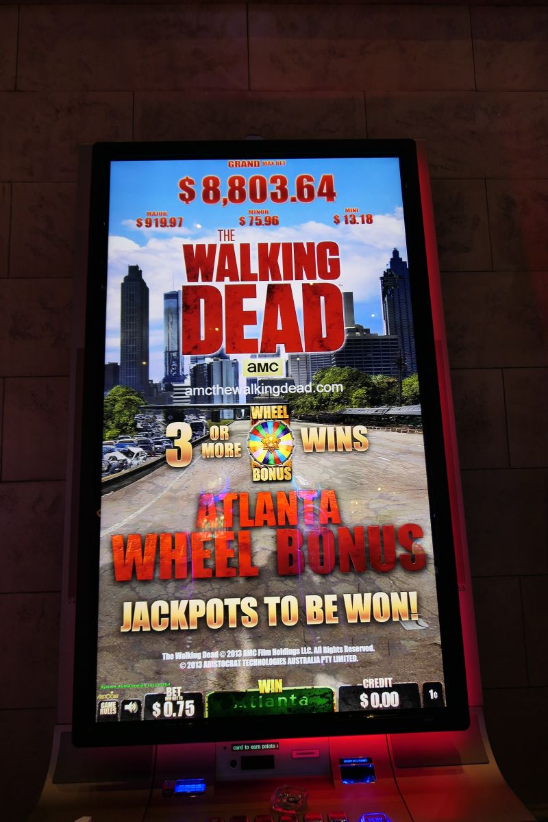 The Walking Dead, eeen echte Vegas Slot :-)