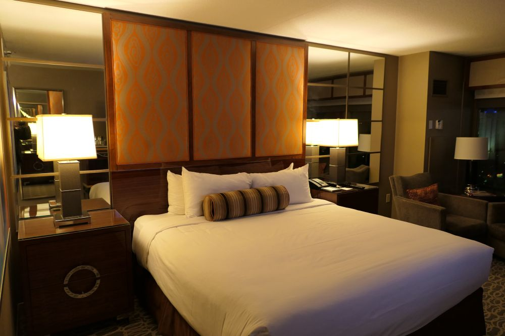 Lekker slapen in mijn hotelkamer in het MGM Grand Hotel in Las Vegas