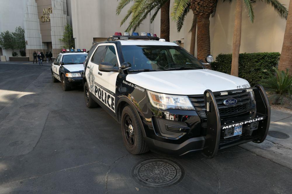 Politie auto's bij MGM Grand