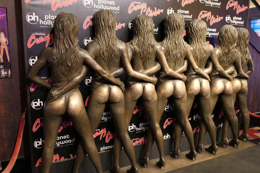 Crazy Girls beelden in het Planet Hollywood Casino
