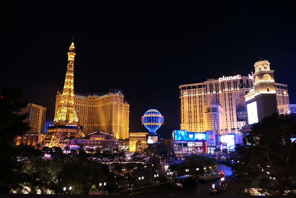 Paris hotel en Planet Hollywood in Las Vegas