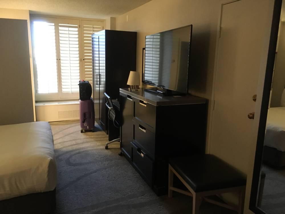 Mijn kamer in het California Hotel in Las Vegas