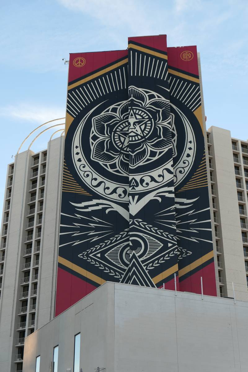 Muurschildering Plaza Hotel Las Vegas