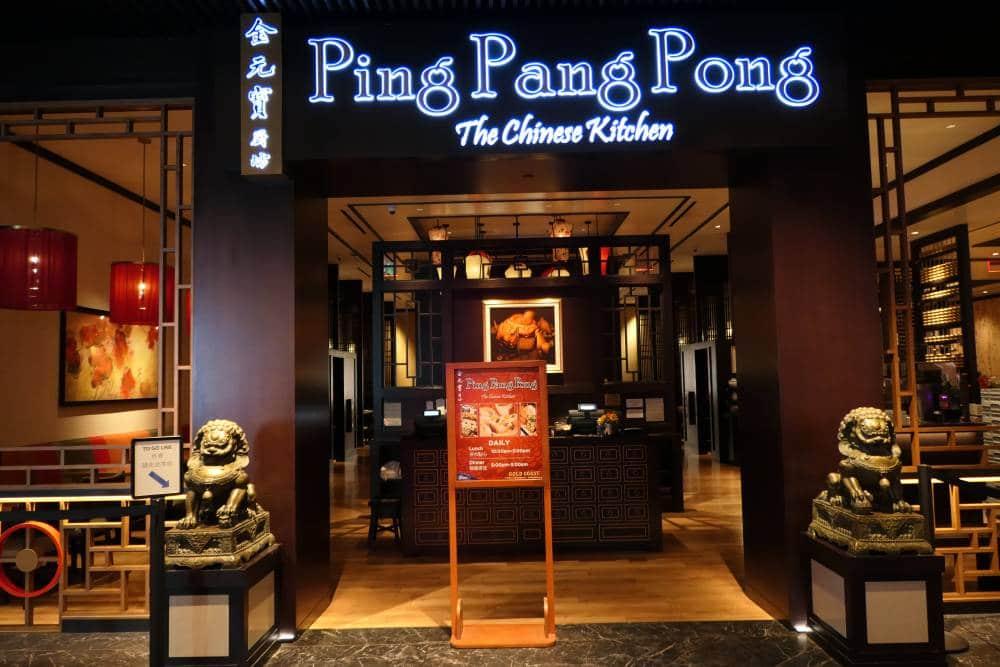 Lunchen Ping Pang Pong in Gold Coast Hotel, Dim Sum gerechten