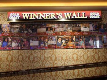 Winner's Wall Gold Coast Casino