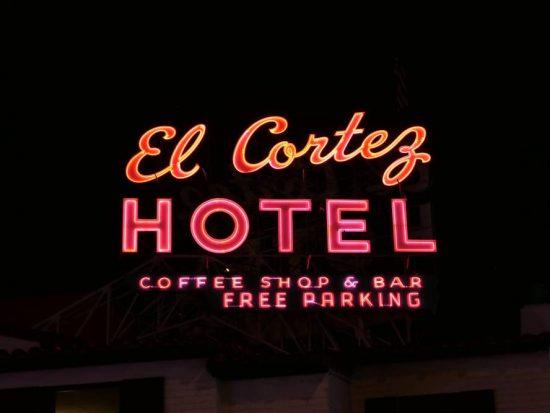 El Cortez Hotel Neon