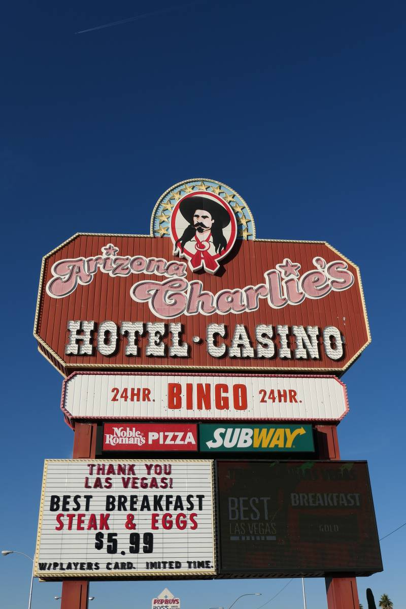 Sign Arizona Charlie's Decatur Hotel en Casino