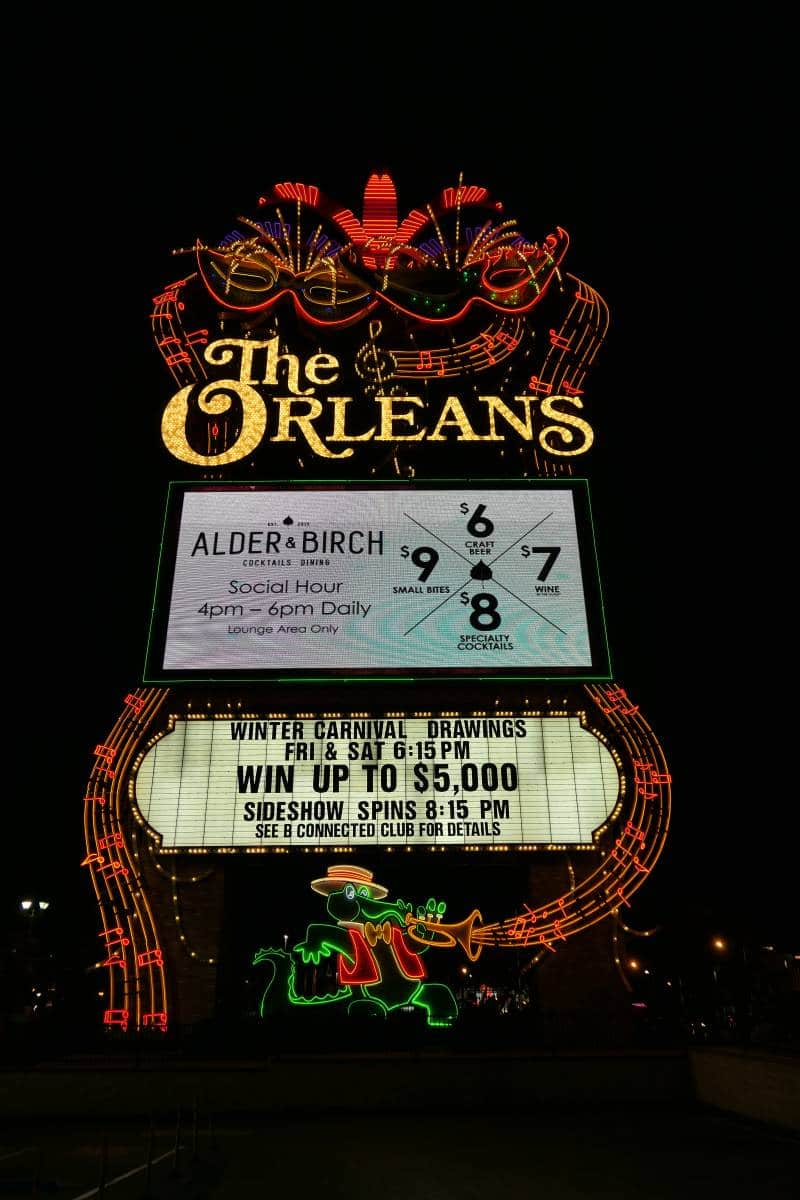 Sign The Orleans Casino in Las Vegas