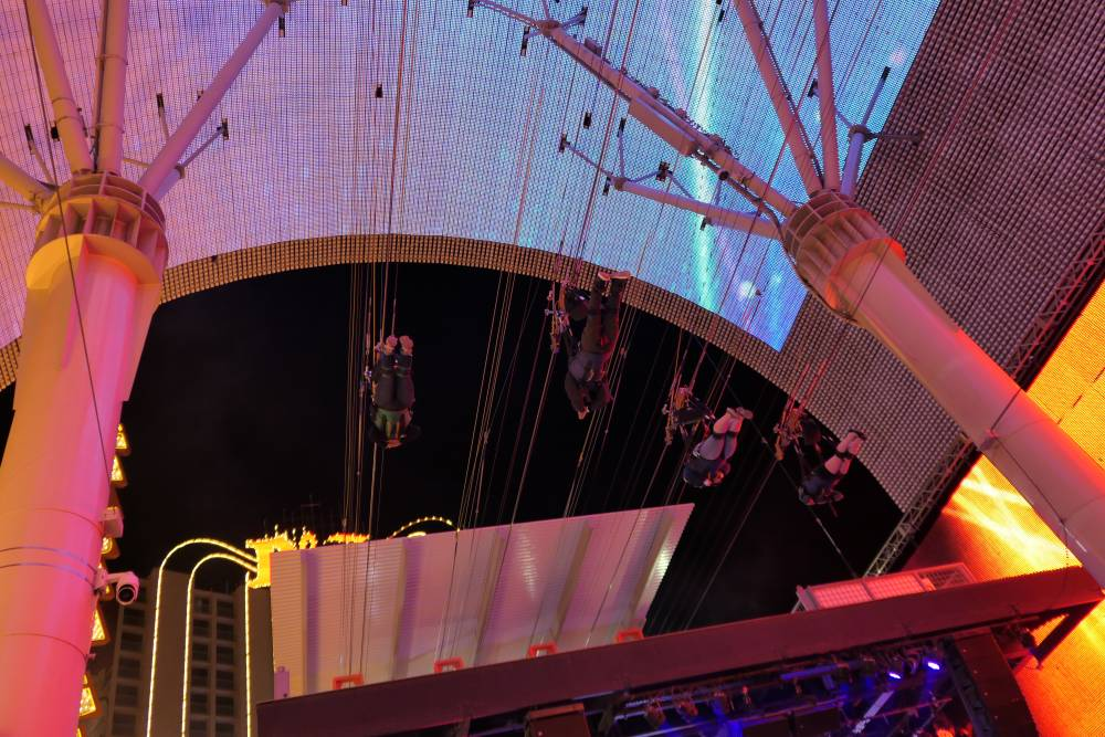 Slotzilla Zipline in Downtown Las Vegas