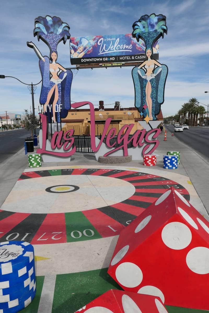City of Las Vegas Sign in Downtown Las Vegas