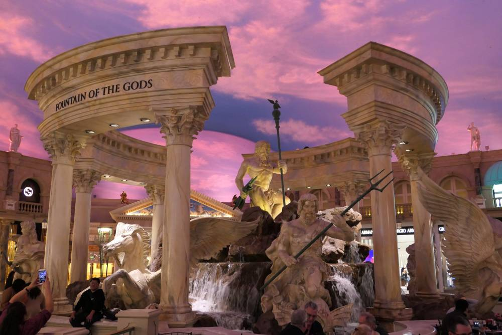 Fountain of The Gods at The Forum Shops