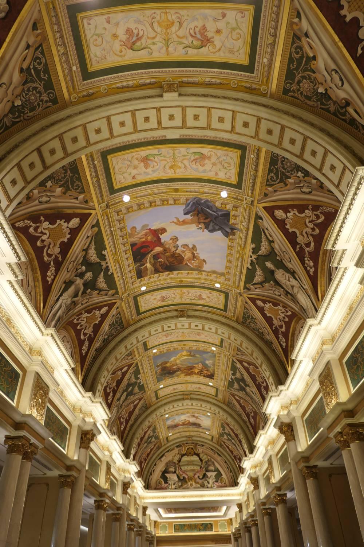 Nog meer mooie plafonds in het Venetian Hotel