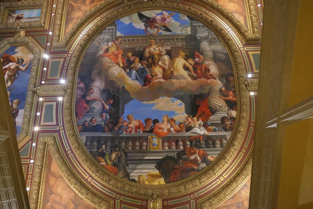 Prachtig plafond, ingang Venetian Casino
