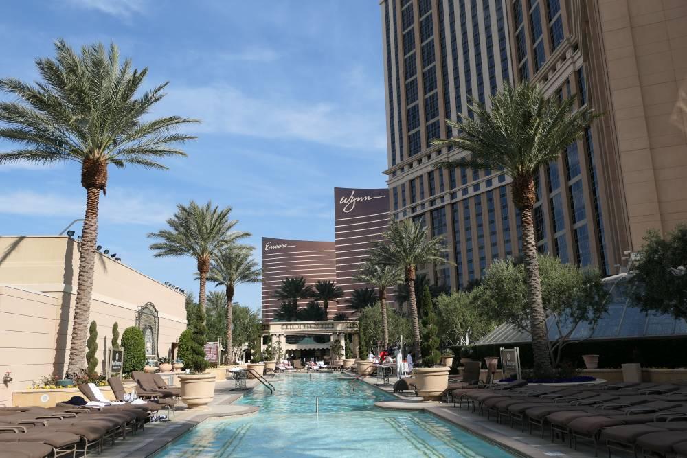 Zwembad Venetian en Palazzo Hotel in Las Vegas