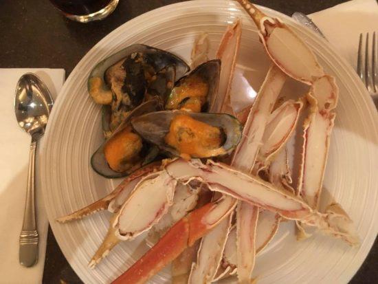 Lekker, warme Crab legs