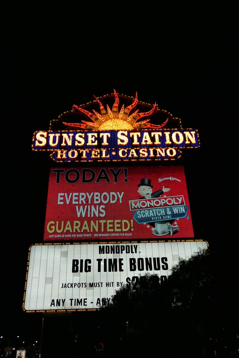 Sign Sunset Station Hotel Casino in Henderson