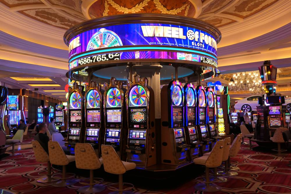 Wheel of Fortune slots in Venetian Casino