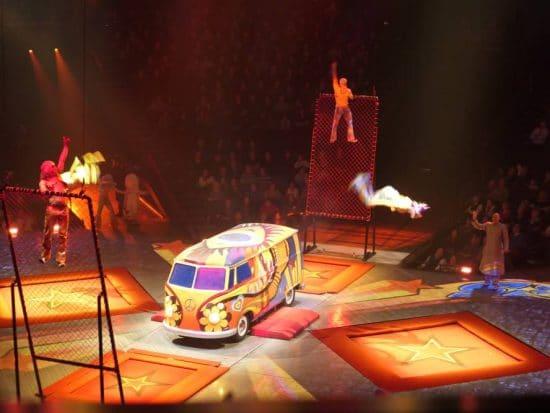 Trapeze act show Love Cirque du Soleil