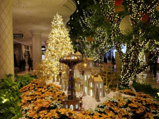 Mooie kerstversieringen in het Wynn