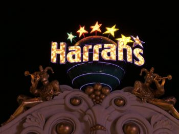 Het Harrah's Sign in Las Vegas