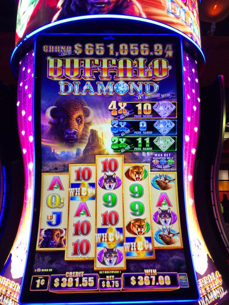 Mooie prijs op  Buffalo Diamond gokkast