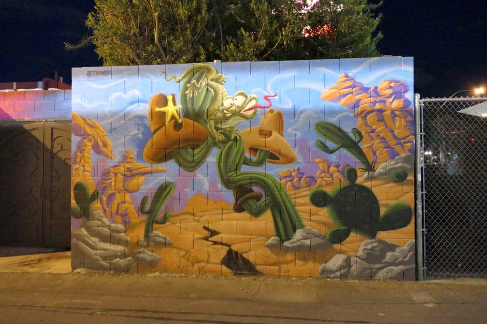 Mural woestijn overdag