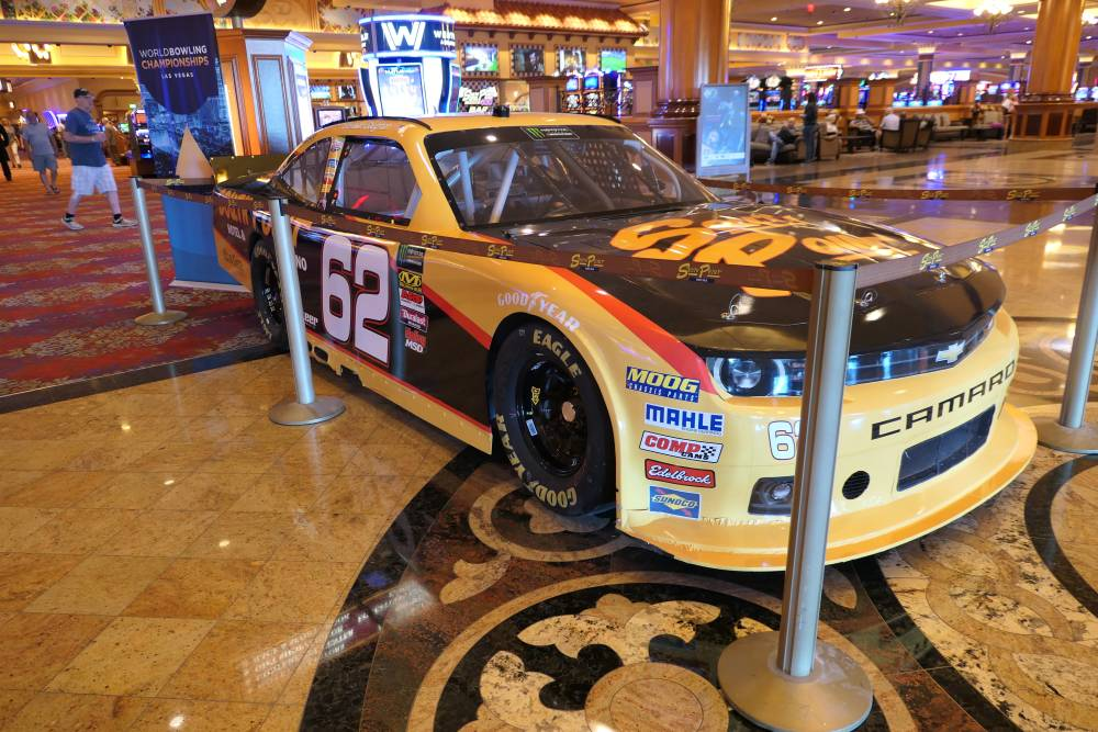 Nascar auto in het South Point Hotel