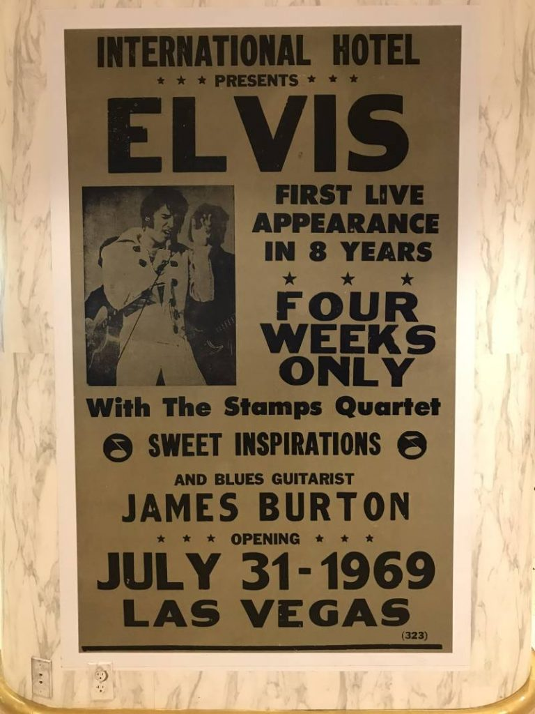 Poster optreden Elvis, International Hotel Las Vegas