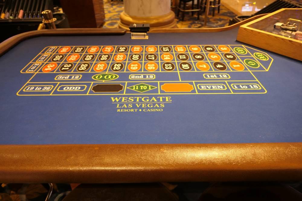 Roulette met 3 nullen, Westgate Casino