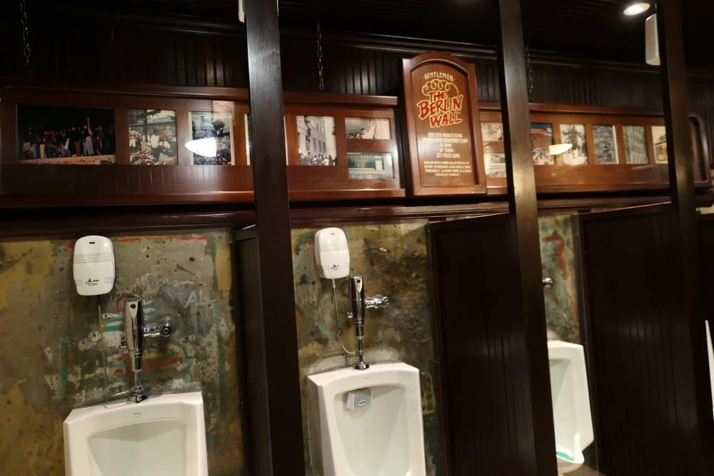 Berlin Wall Restroom Main Street Station Las Vegas