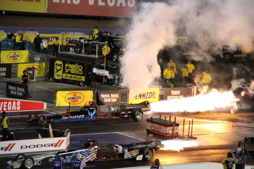 Jetcars in Las Vegas.Drag Racing