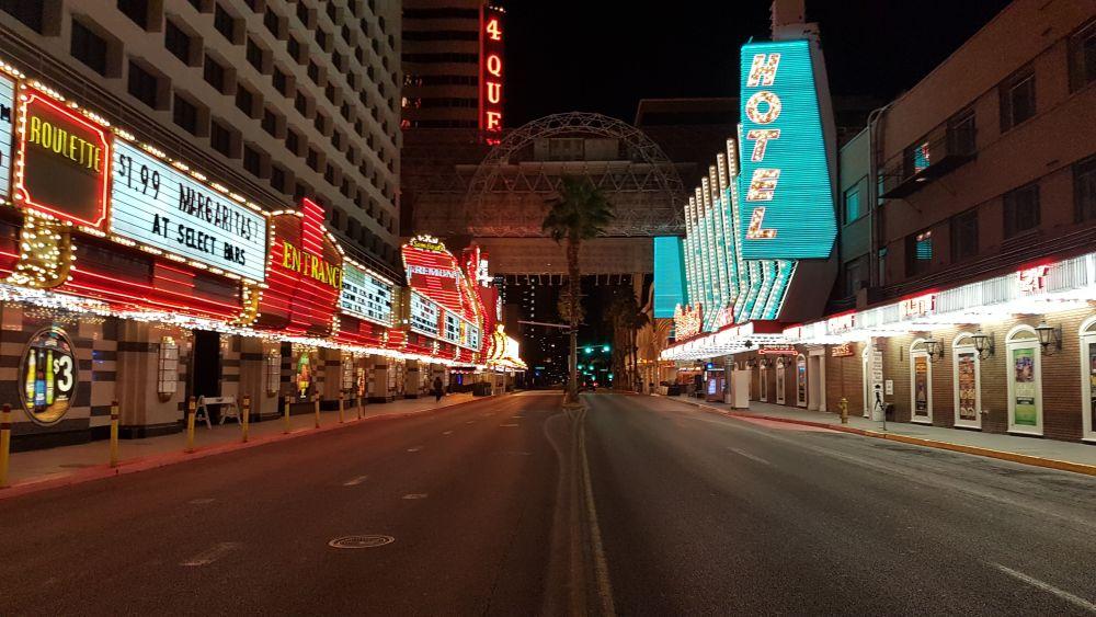 Lockdown Las Vegas door Coronavirus