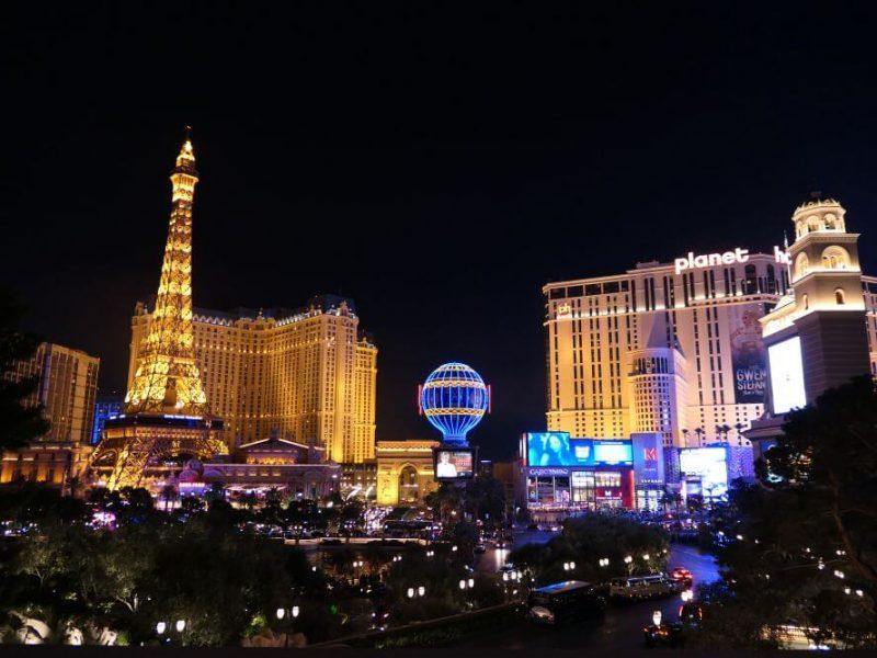 Paris Hotel en Planet Hollywood Hotel in Las Vegas