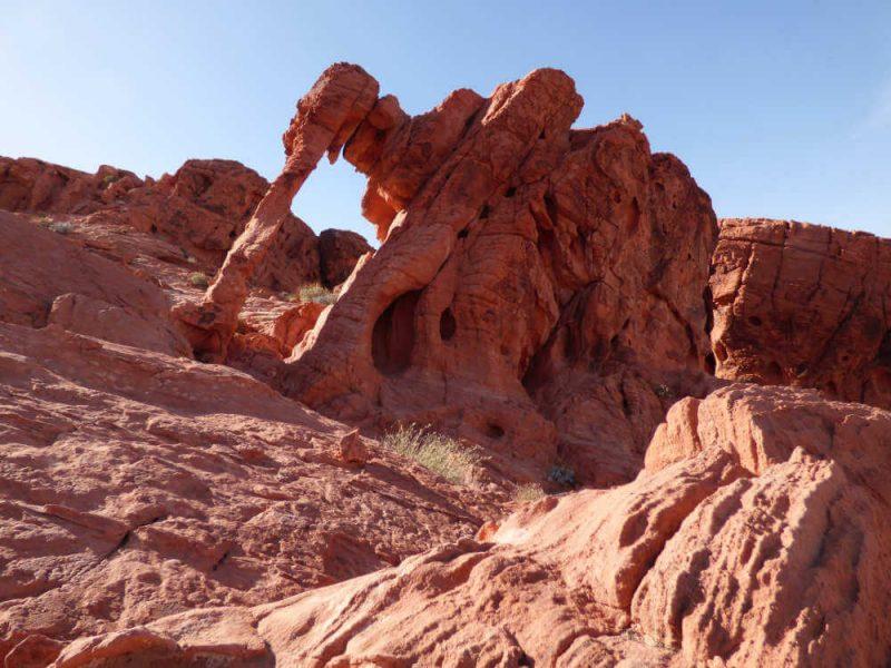 Elephant Rock Valley of Fire State Park, natuurpark niet ver van Las Vegas