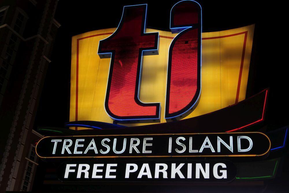 gratis parkeren op de Las Vegas Strip, dit kan bij TI. Free Parking Treasure Island