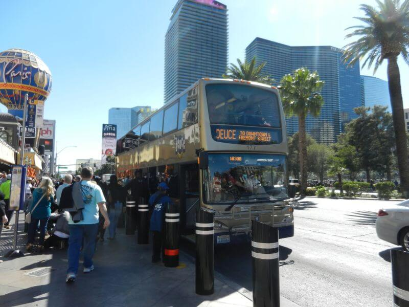 The Deuce, goedkope bus die over de Las Vegas Boulevard rijdt