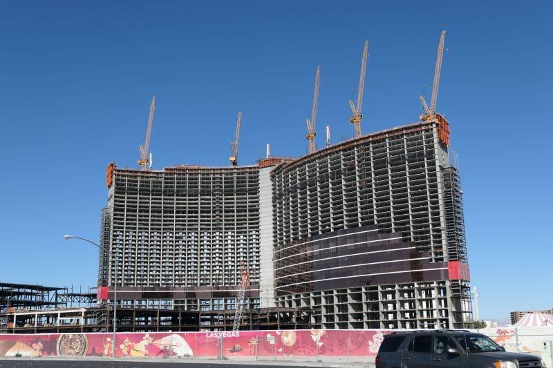 Bouw Resorts World Las Vegas 2018, 3 jaar voor de opening Resorts World Las Vegas.