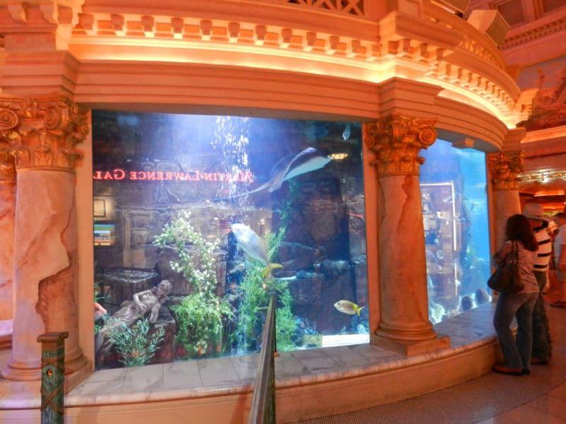 Het Aquarium at Atlantis Show in het winkelcentrum van Caesars Palace, Forum Shops.