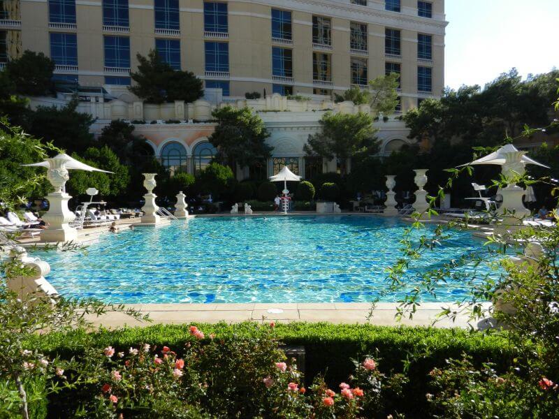 Een van de zwembaden in het Bellagio Hotel in Las Vegas.